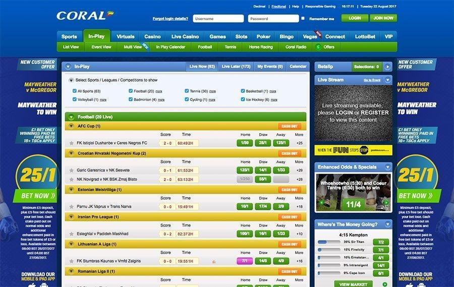 Coral ufc betting sites vulcun betting